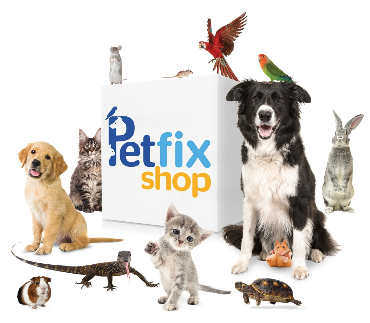 petfix shop cube with animals