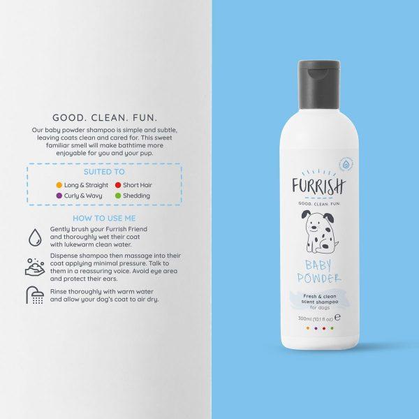 Furrish Baby Powder Shampoo 300ml