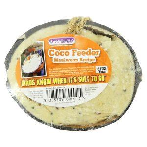 Unipet Suet To Go - Mealworm Half Coconut Feeder