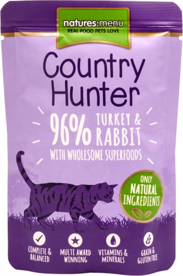 Country Hunter Cat Pouches Turkey and Rabbit