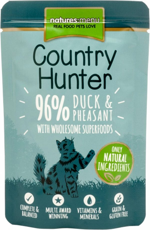 Country Hunter Cat Pouches Duck and Pheasant